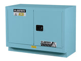ChemCor® Under Fume Hood Corrosives/Acids Safety Cabinet, Cap. 31 gal., 1 shelf, 2 s/c doors - SolventWaste.com