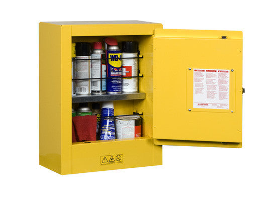 Sure-Grip® EX Mini Flammable Safety Cabinet, transportable, 1 shelf, 1 m/c door - SolventWaste.com