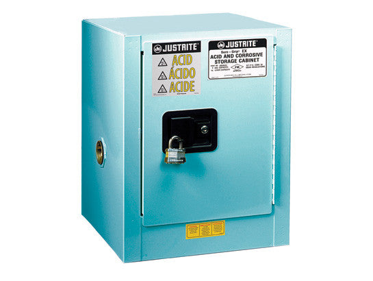 ChemCor® Countertop Corrosives/Acids Safety Cabinet, Cap. 4 gallons., 1 shelf, 1 s/c door - SolventWaste.com