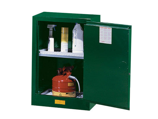 Sure-Grip® EX Compac Pesticides Safety Cabinet, Cap. 12 gal., 1 adjustable shelf, 1 s/c door - SolventWaste.com