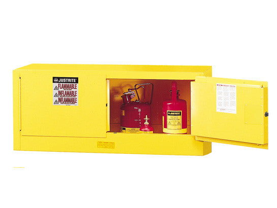 Sure-Grip® EX Piggyback Flammable Safety Cabinet, Cap. 12 gallons, 2 manual-close doors - SolventWaste.com