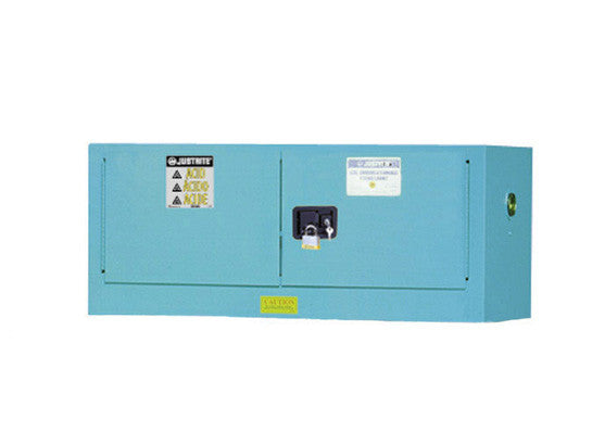 ChemCor® Piggyback Corrosives/Acids Safety Cabinet, Cap. 12 gallons, 2 manual-close doors - SolventWaste.com
