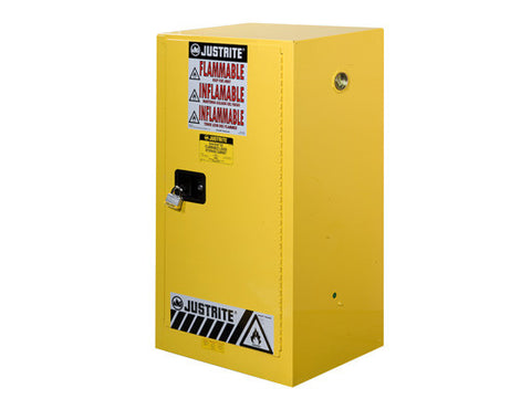 Sure-Grip® EX Compac Flammable Safety Cabinet, Cap. 15 gallons, 1 shelf, 1 m/c door - SolventWaste.com