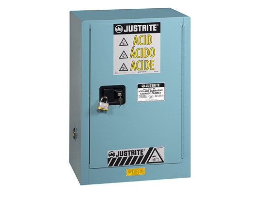 Sure-Grip® EX Compac Corrosives/Acid Steel Safety Cabinet, Cap. 15 gal., 1 shelf, 1 m/c door - SolventWaste.com