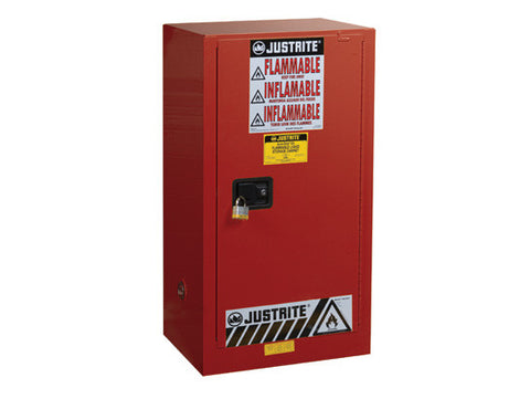 Sure-Grip® EX Combustibles Safety Cabinet for paint and ink, Cap. 20 gal, 2 shlves, 1 s/c door - SolventWaste.com