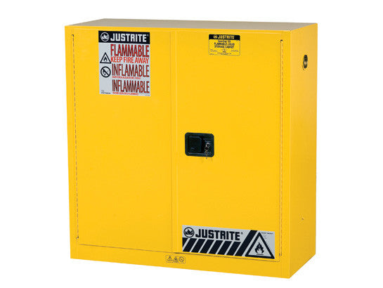 "Sure-Grip® EX Flammable Safety Cabinet, Dims. 44""H, Cap. 30 gal., 1 shelf, 2 m/c doors - SolventWaste.com"