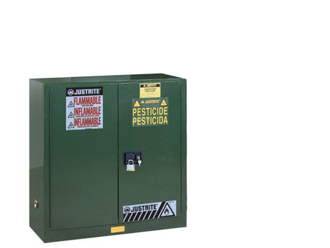 "Sure-Grip® EX Pesticides Safety Cabinet, Dims. 44""H, Cap. 30 gal., 1 shelf, 2 m/c doors - SolventWaste.com"