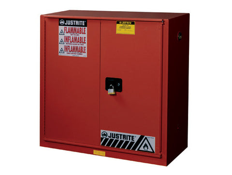 Sure-Grip® EX Combustibles Safety Cabinet for paint/ink, Cap. 40 gal., 3 shlvs, 1 bifold s/c door - SolventWaste.com