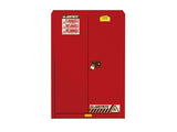 Sure-Grip® EX Combustibles Safety Cabinet for paint and ink, Cap. 60 gal., 5 shelves, 2 s/c doors - SolventWaste.com