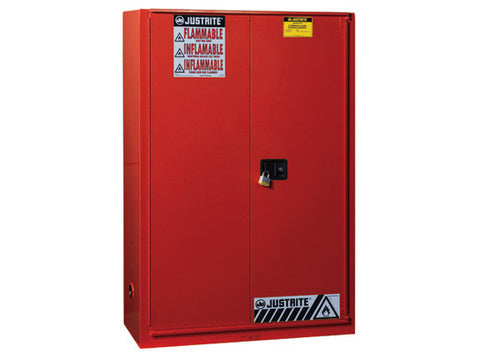 Sure-Grip® EX Combustibles Safety Cabinet for paint and ink, Cap. 60 gal., 5 shlvs, 1 bifold door - SolventWaste.com