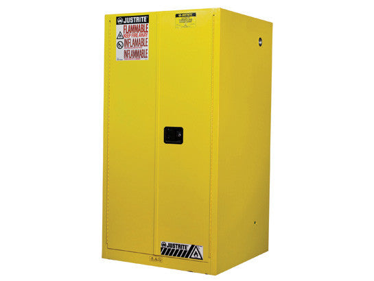 Sure-Grip® EX Flammable Safety Cabinet, Cap. 60 gallons, 2 shelves, 2 Manual-close doors - SolventWaste.com