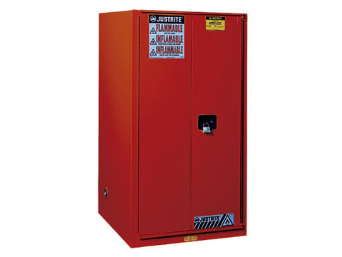 Sure-Grip® EX Combustibles Safety Cabinet for paint and ink, Cap. 96 gal., 5 shelves, 2 m/c door - SolventWaste.com
