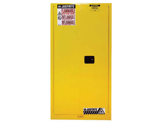 Sure-Grip® EX Flammable Safety Cabinet, Cap. 60 gallons, 2 shelves, 2 self-close doors - SolventWaste.com
