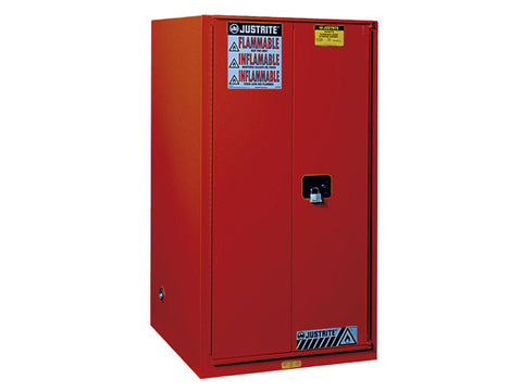 Sure-Grip® EX Combustibles Safety Cabinet for paint and ink, Cap. 96 gal., 5 shelves, 2 s/c doors - SolventWaste.com