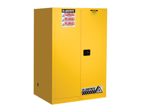 Sure-Grip® EX Flammable Safety Cabinet, Cap. 90 gallons, 2 shelves, 2 self-close doors - SolventWaste.com