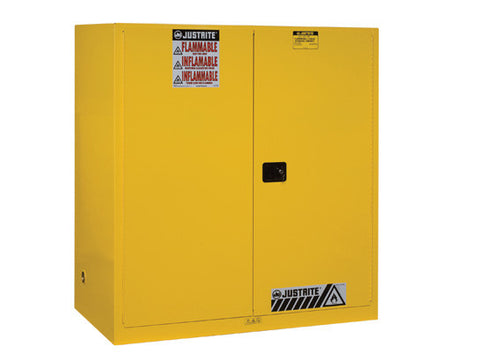 Sure-Grip® EX Vertical Drum Safety Cabinet and Drum Support, Cap. 110 gal., 1 shelf, 2 s/c doors - SolventWaste.com