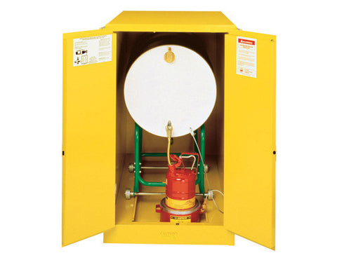 Sure-Grip® EX Horizontal Drum Safety Cabinet with Cradle Track, Cap. 55-gal. drum, 2 m/c doors - SolventWaste.com