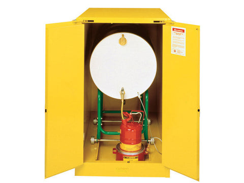 Sure-Grip® EX Horizontal Drum Safety Cabinet with Cradle Track, Cap. 55-gal. drum, 2 s/c doors - SolventWaste.com