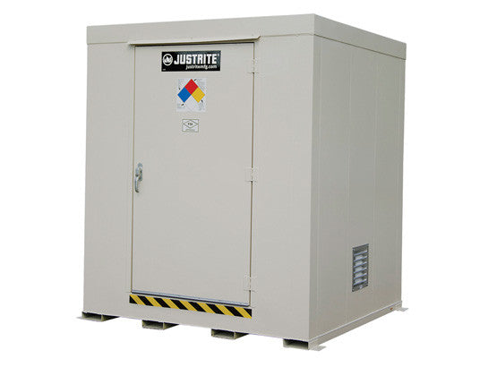 Non-Combustible Outdoor Safety Locker, 9-Drum, Explosion Relief Panels - SolventWaste.com
