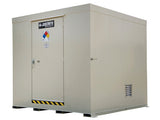 Non-Combustible Outdoor Safety Locker, 16-Drum, Explosion Relief Panels - SolventWaste.com