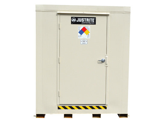 2-hour Fire-rated Outdoor Safety Locker, 2-Drum, Explosion Relief Panels - SolventWaste.com