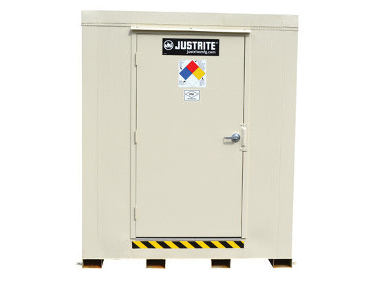 2-hour Fire-rated Outdoor Safety Locker, 6-Drum, Explosion Relief Panels - SolventWaste.com