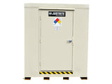 2-hour Fire-rated Outdoor Safety Locker, 9-Drum, Explosion Relief Panels - SolventWaste.com