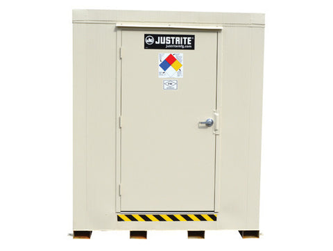 4-hour Fire-rated Outdoor Safety Locker, 4-Drum, Explosion Relief Panels - SolventWaste.com