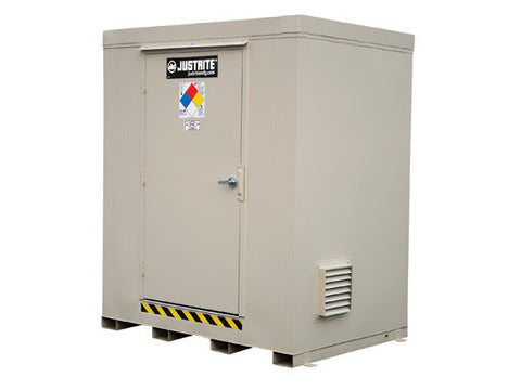 4-hour Fire-rated Outdoor Safety Locker, 6-Drum - SolventWaste.com