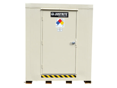 4-hour Fire-rated Outdoor Safety Locker, 6-Drum, Explosion Relief Panels - SolventWaste.com