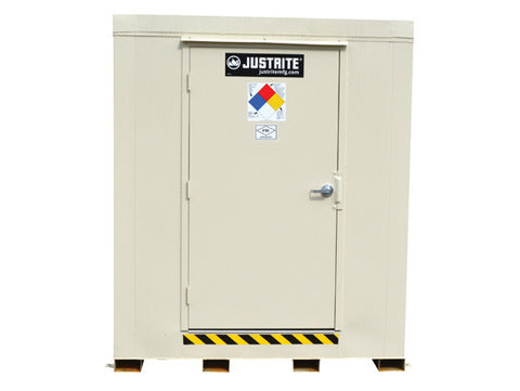 4-hour Fire-rated Outdoor Safety Locker, 12-Drum, Explosion Relief Panels - SolventWaste.com