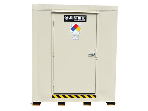 4-hour Fire-rated Outdoor Safety Locker, 16-Drum, Explosion Relief Panels - SolventWaste.com
