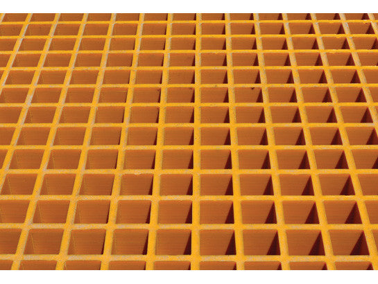 Fiberglass Floor Grating with Sump Liner, 16 Drum Locker - SolventWaste.com