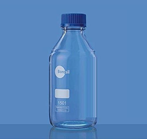 Borosil® Clear Reagent Glass Bottle with GL45 Screw Cap 1/CS - 10L/10,000ML - SolventWaste.com