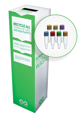 Zero Waste Recycling Box, Centrifuge Tubes & Rigid Lab Plastics - Small - SolventWaste.com