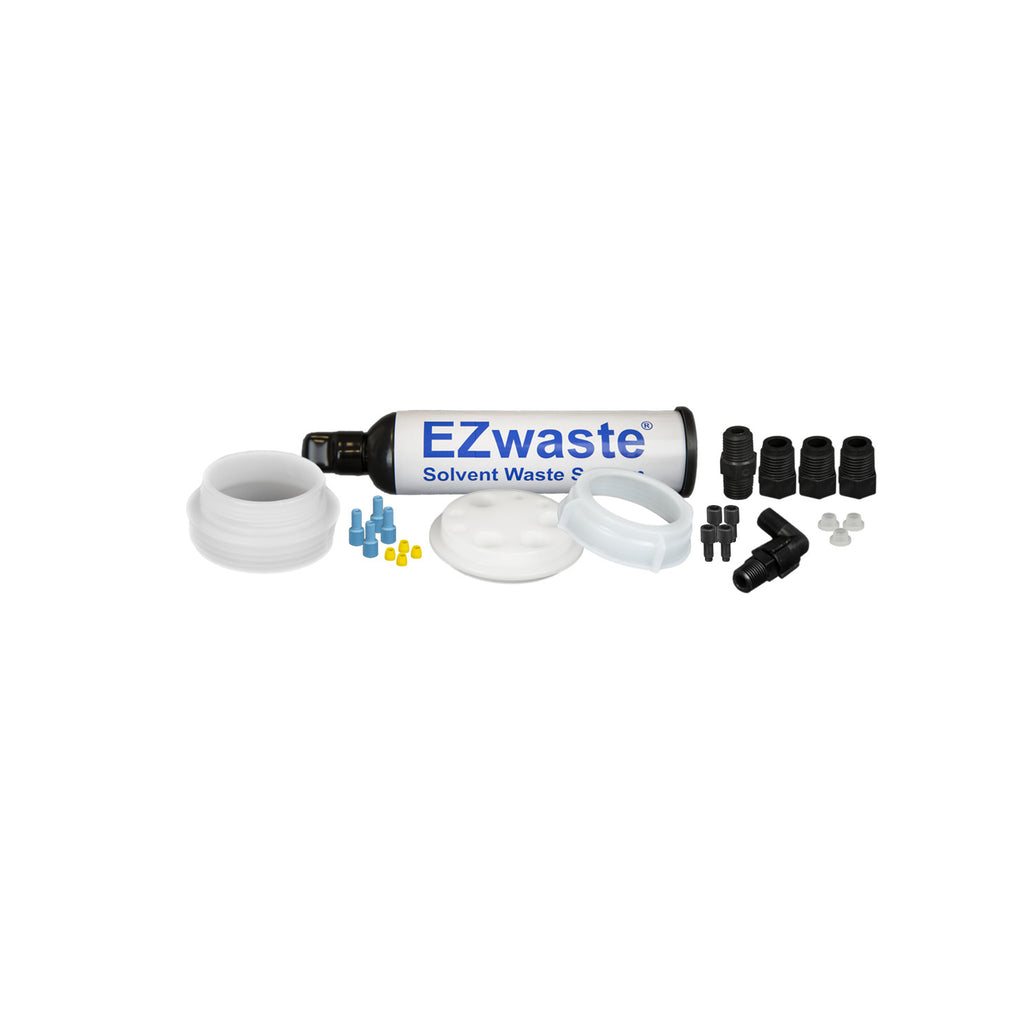 "EZWaste® UN/DOT Filter Kit, VersaCap® 70S w/ Threaded Adapter, 4 Ports for 1/8"" OD Tubing, 3 Ports for ¼"" OD Tubing - SolventWaste.com"
