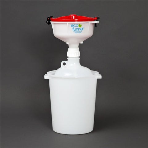 "8"" ECO Funnel System, 8 Liter, 53mm, Secondary Container - SolventWaste.com"