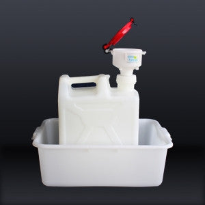 "4"" ECO Funnel System, 20 Liter, 70mm, Secondary Container - SolventWaste.com"