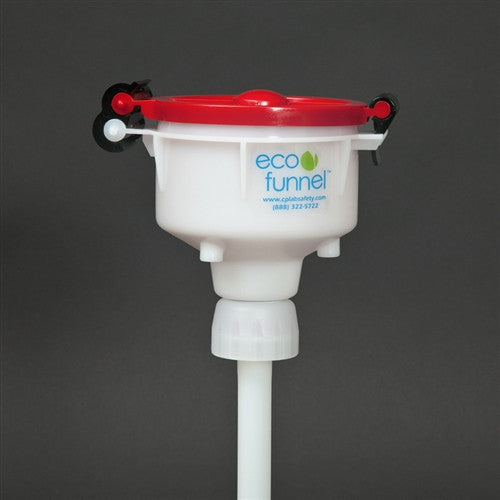 "4"" ECO Funnel with 38-400 cap adapter for Jugs - SolventWaste.com"