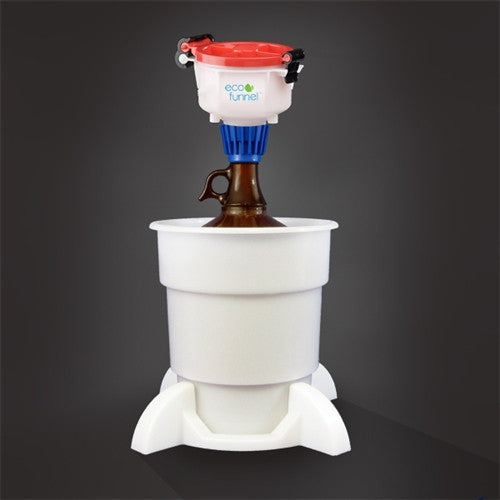 "4"" ECO Funnel System, 4 Liter, Glass Bottle, Secondary Container - SolventWaste.com"