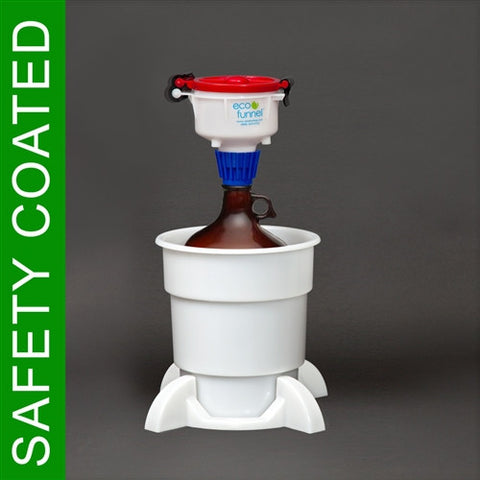 "4"" ECO Funnel System, 4 Liter Safety Coated Bottle, Secondary Container - SolventWaste.com"