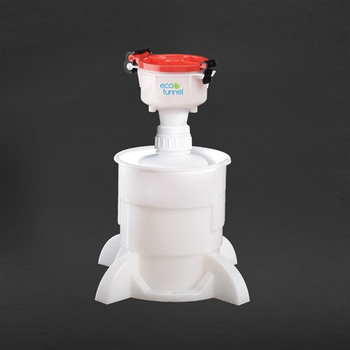 "4"" ECO Funnel System, 2 Liter, Cap Size 53mm with Base - SolventWaste.com"