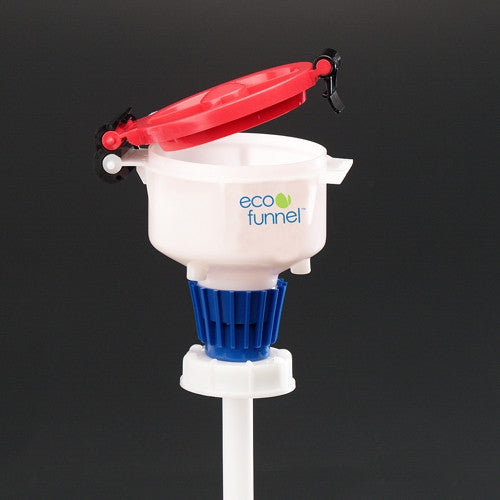 "4"" ECO Funnel with 63mm cap adapter (Red) - SolventWaste.com"