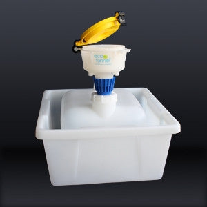 "4"" ECO Funnel System, 2.5 gallon, Cap Size 63mm - SolventWaste.com"