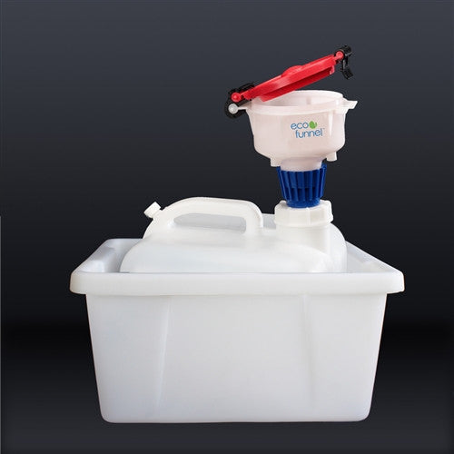 "4"" ECO Funnel System, 2.5 gallon, 63mm, Secondary Container - SolventWaste.com"