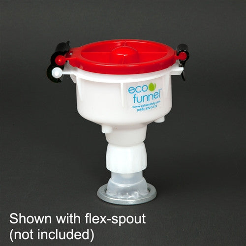 "4"" ECO Funnel with cap adapter for Rieke Flex Spout - SolventWaste.com"