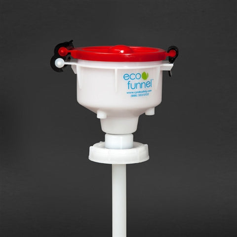 "4"" ECO Funnel with 70mm cap adapter - SolventWaste.com"