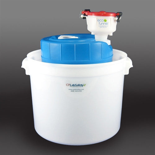 "4"" ECO Funnel System, 5 gallon, 70mm (FS70), Secondary Container - SolventWaste.com"