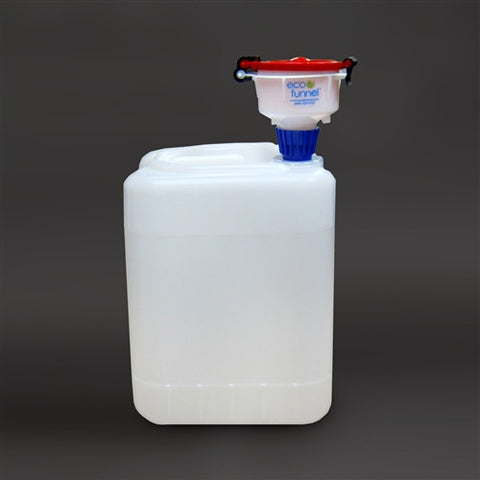 "4"" ECO Funnel System, 20L Rectangular Samson Stacker, 70mm Cap - SolventWaste.com"