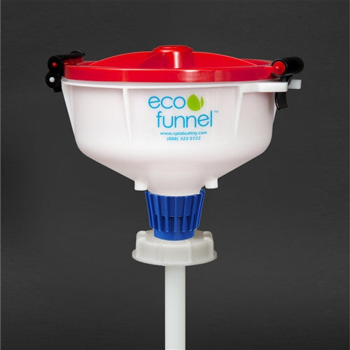 "8"" ECO Funnel with 70mm adapter, suitable for 5 gal rectangle tight head drum - SolventWaste.com"